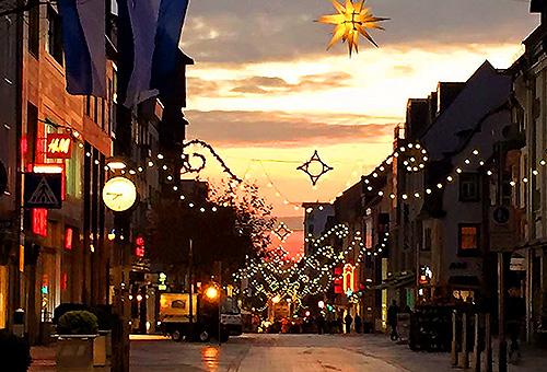 立地する街の風景 冬